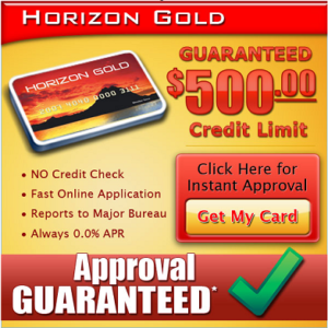 Guaranteed Credit Line Approval