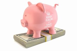 piggy bank to save money